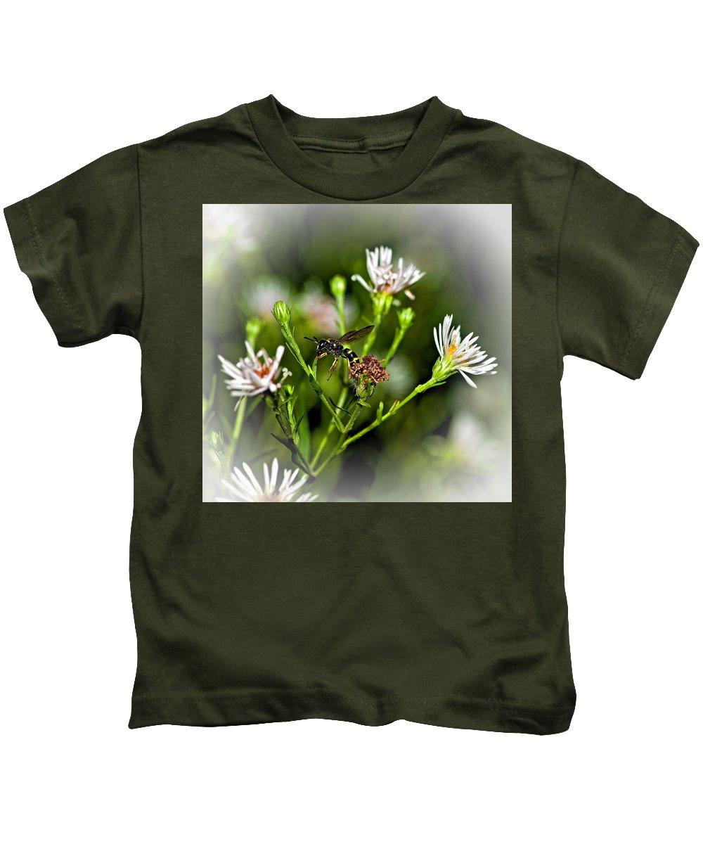 Flower Kids T-Shirt featuring the photograph Between Jobs Vignette by Steve Harrington