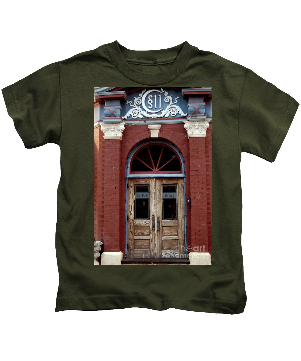 Doorway Kids T-Shirt featuring the photograph Blue Belle by Anjanette Douglas