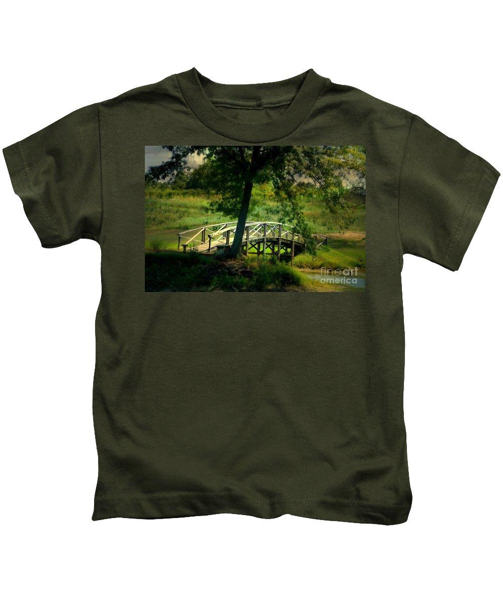 Landscape Kids T-Shirt featuring the photograph Bridge To Heaven by Peggy Franz