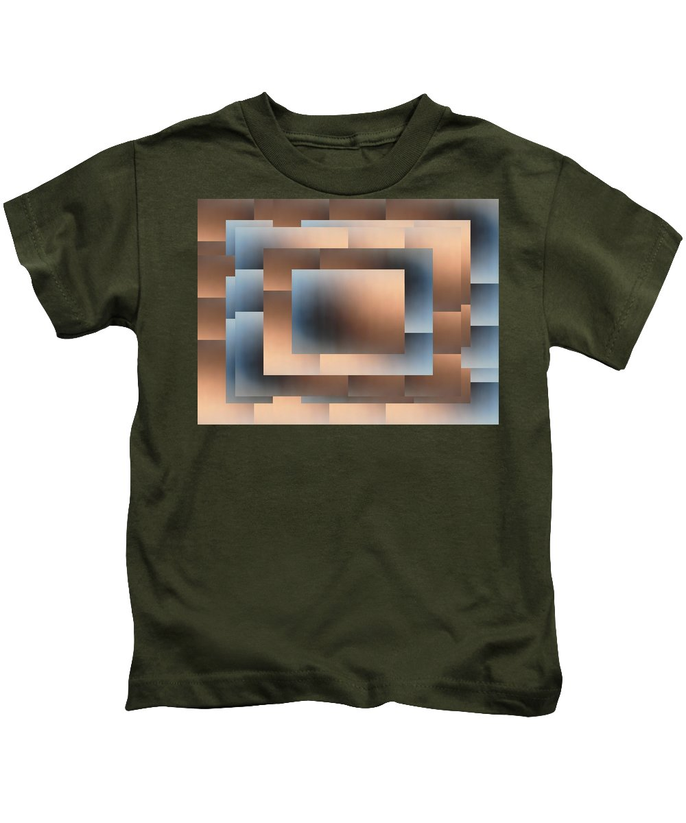 Brushed Kids T-Shirt featuring the digital art Brushed 02 by Tim Allen