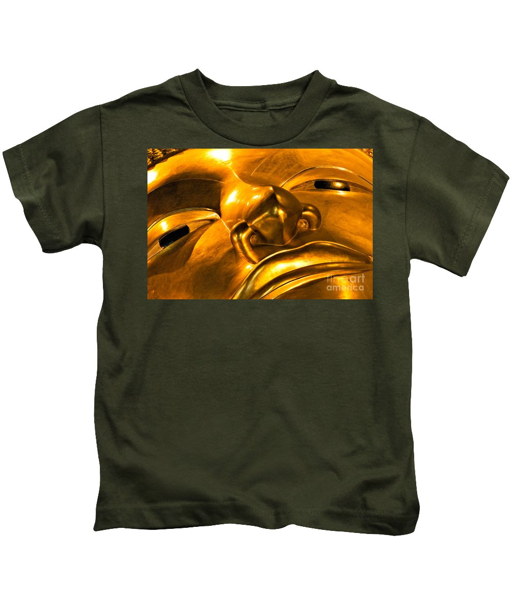 Abstract Kids T-Shirt featuring the photograph Buddha by Luciano Mortula
