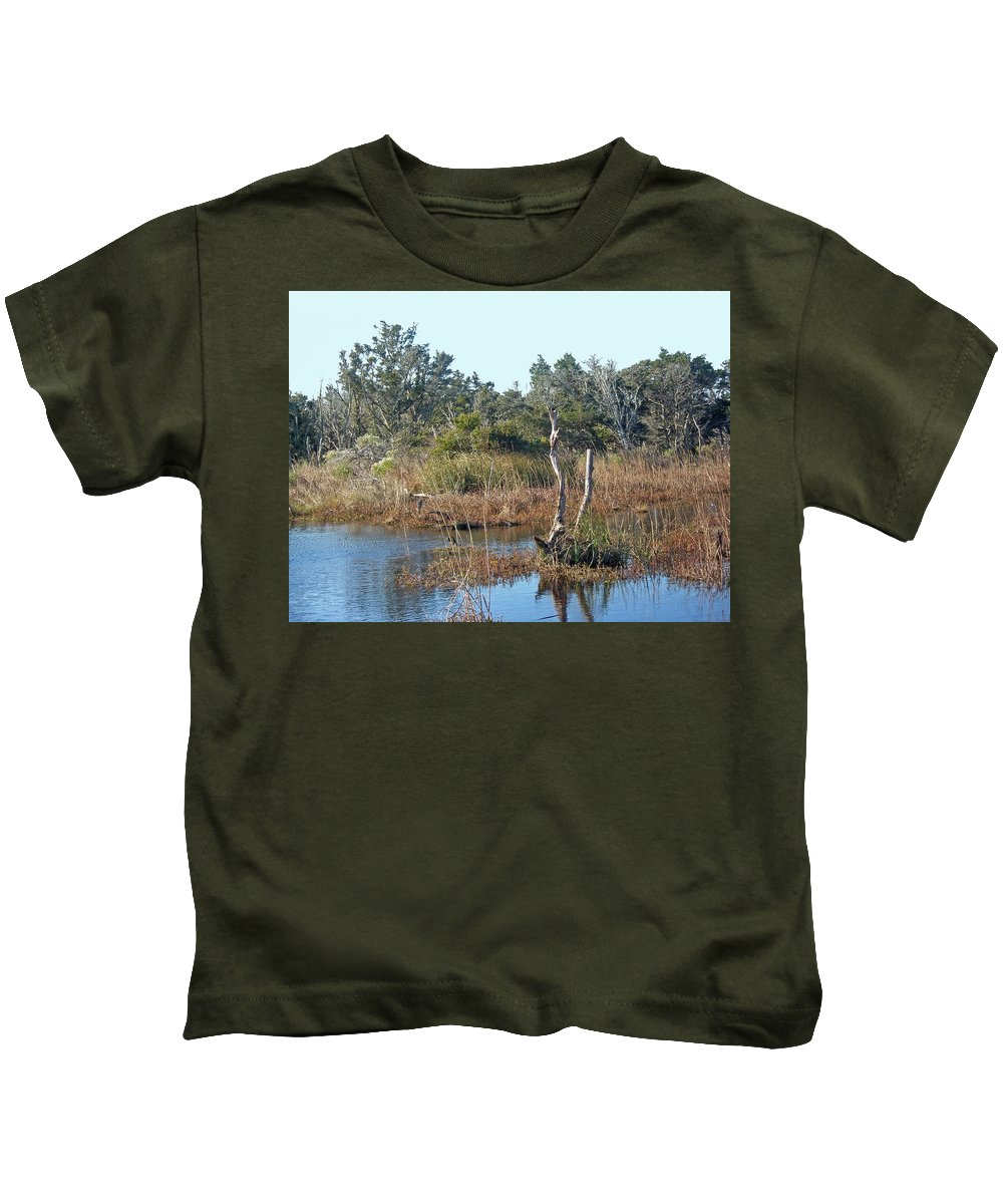 Marsh Kids T-Shirt featuring the photograph Buxton Salt Marsh - Outer Banks Nc by Mother Nature