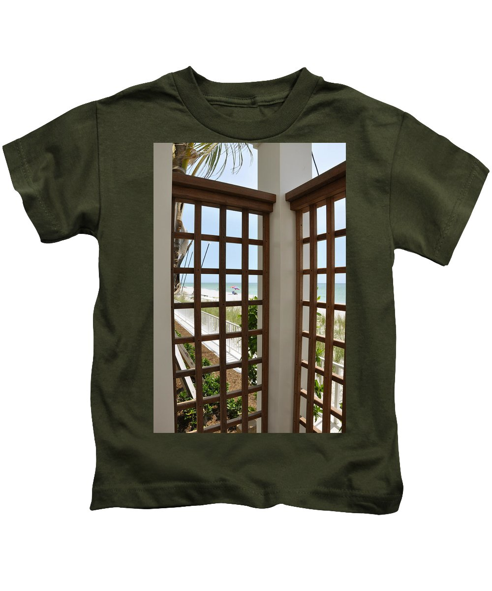 Lattice Kids T-Shirt featuring the photograph Casa Del Laplaya by Christine Stonebridge