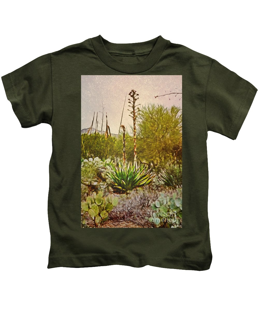 Fine Art Photography Kids T-Shirt featuring the photograph Century Plant by Donna Greene