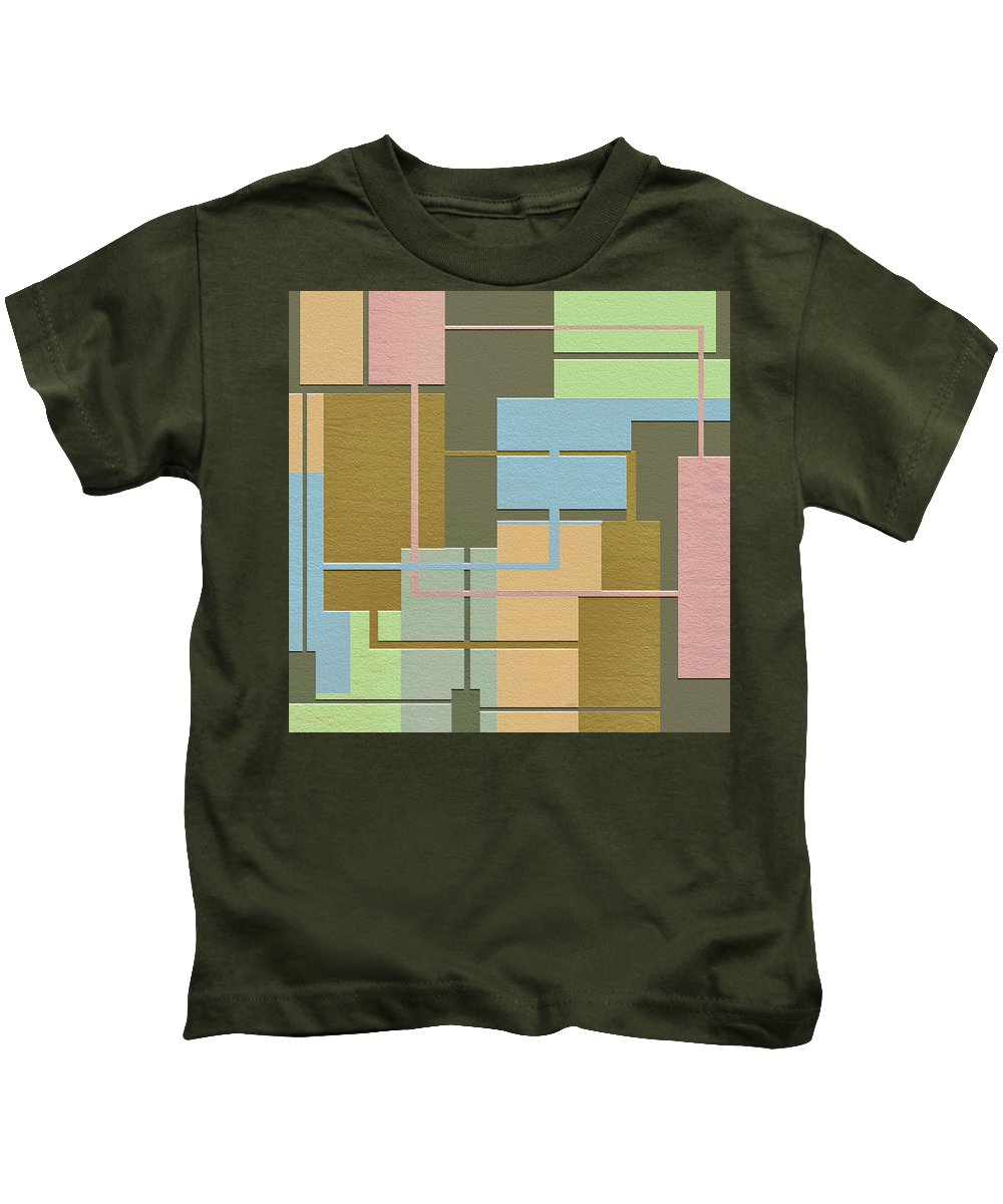 Abstract Art Kids T-Shirt featuring the digital art Check by Ely Arsha