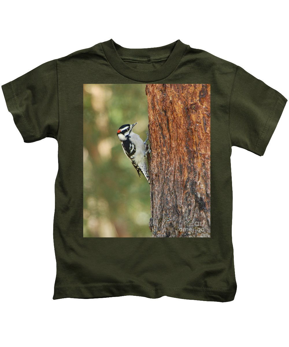 Bird Kids T-Shirt featuring the photograph Checking It Out by Grace Grogan