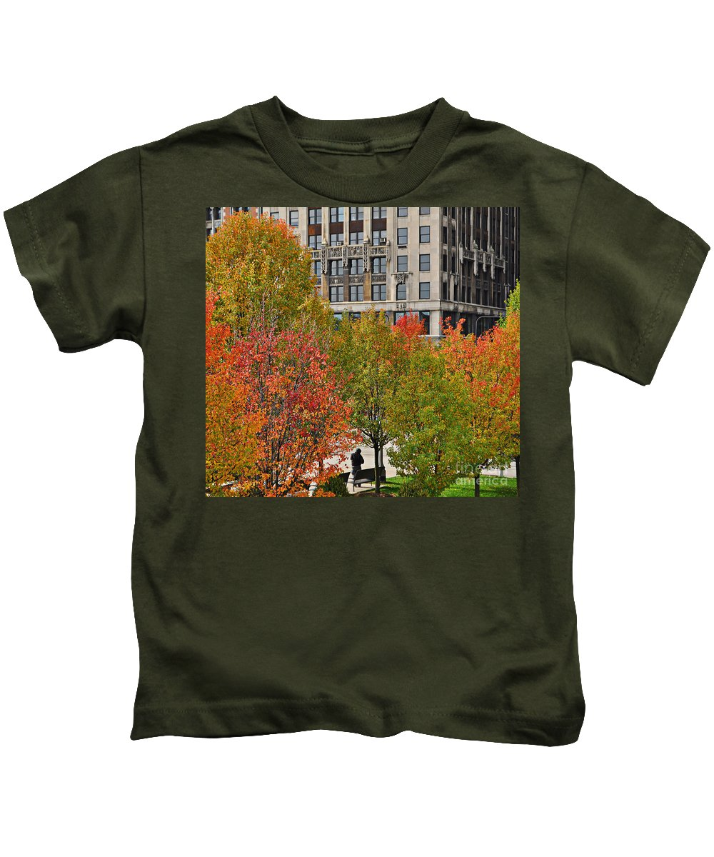 Chicago Kids T-Shirt featuring the photograph Chicago In Autumn by Mary Machare