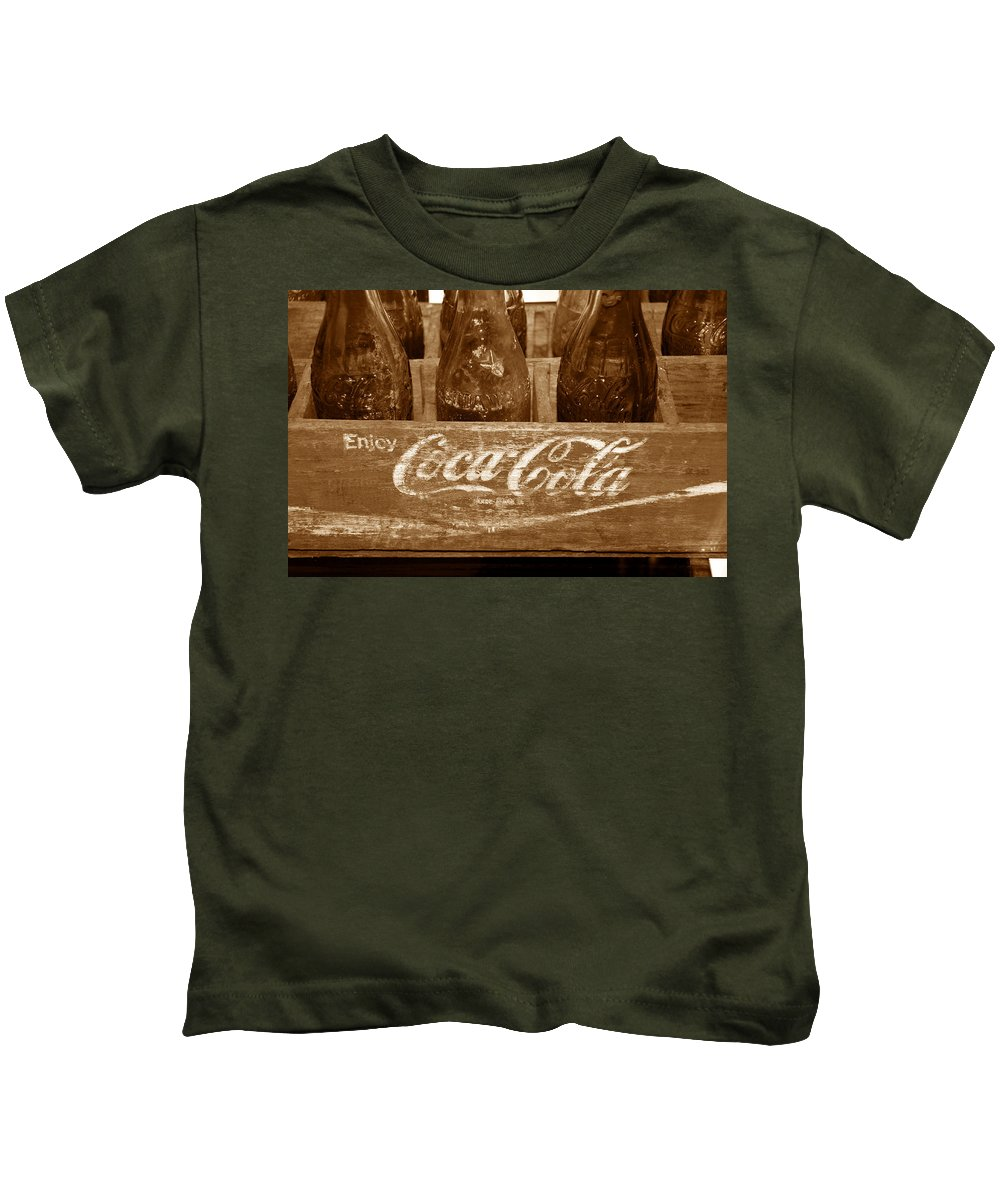 Fine Art Photography Kids T-Shirt featuring the photograph Classic Coke Work B by David Lee Thompson