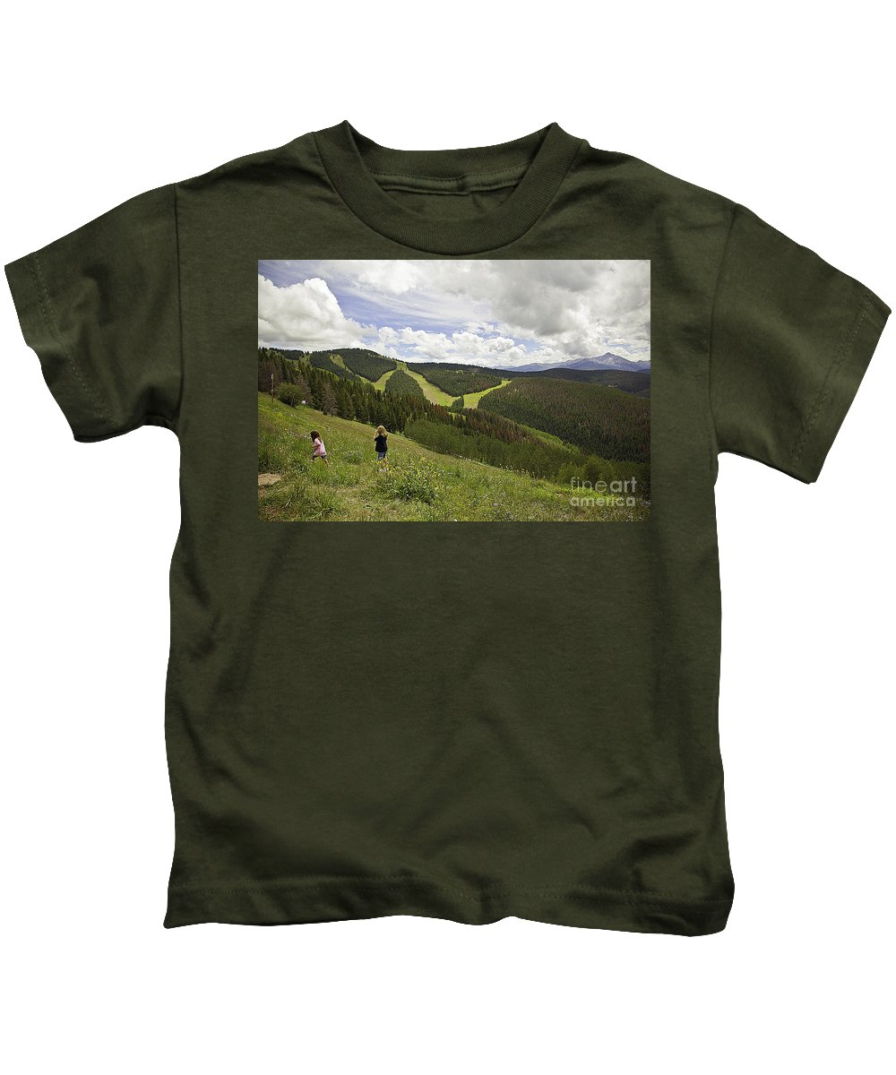 Children Kids T-Shirt featuring the photograph Colorado Mountain Freedom by Madeline Ellis