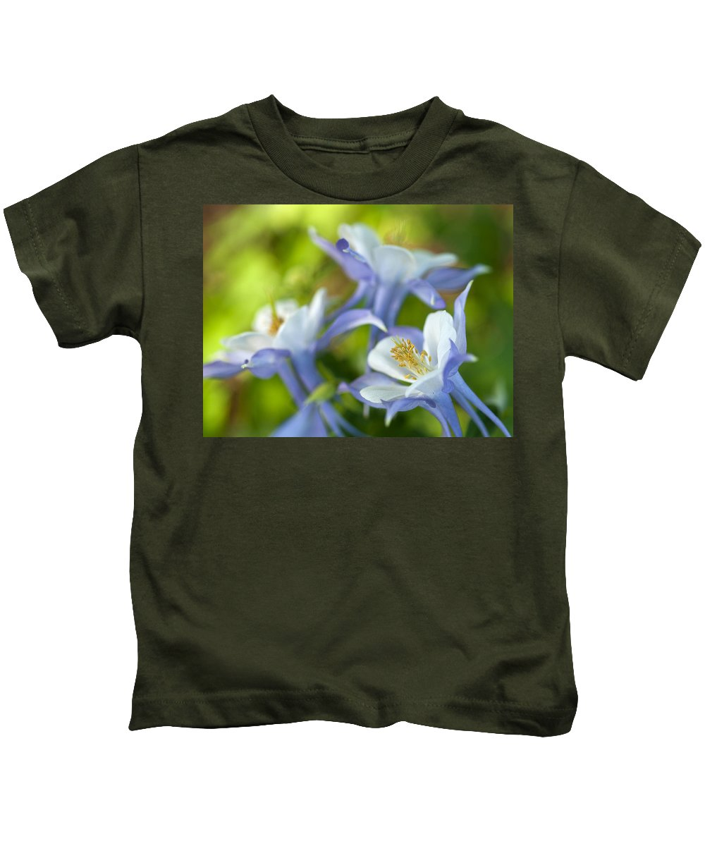 Columbine Kids T-Shirt featuring the photograph Columbine-1 by Charles Hite