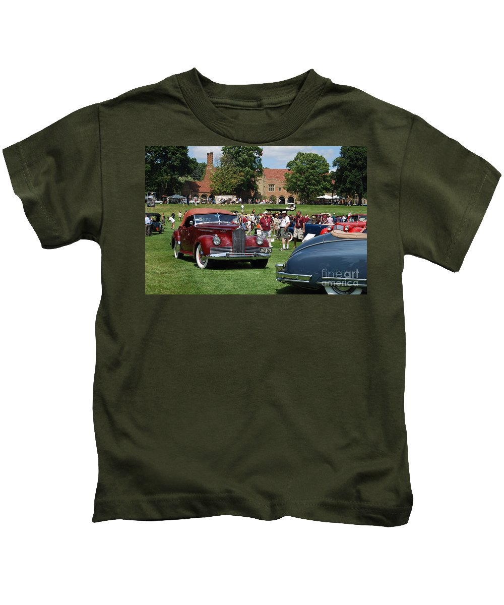 Meadowbrook Hall Kids T-Shirt featuring the photograph Concours D' Elegance 4 by Grace Grogan