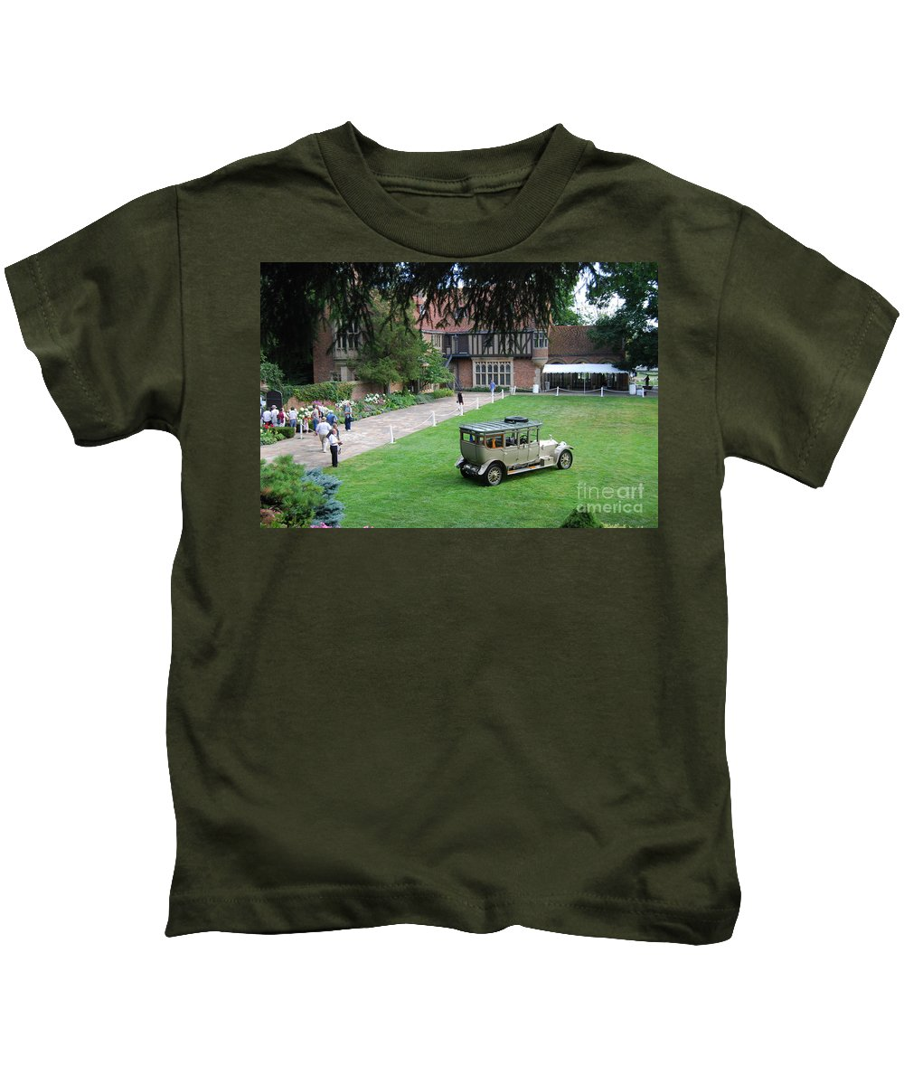 Meadowbrook Hall Kids T-Shirt featuring the photograph Concours D' Elegance 6 by Grace Grogan