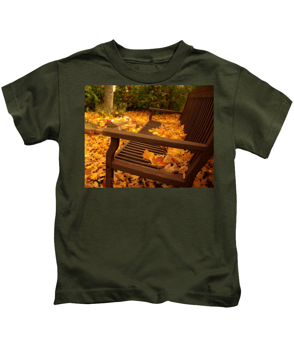 Contemplation Kids T-Shirt featuring the photograph Contemplation by Edward Smith