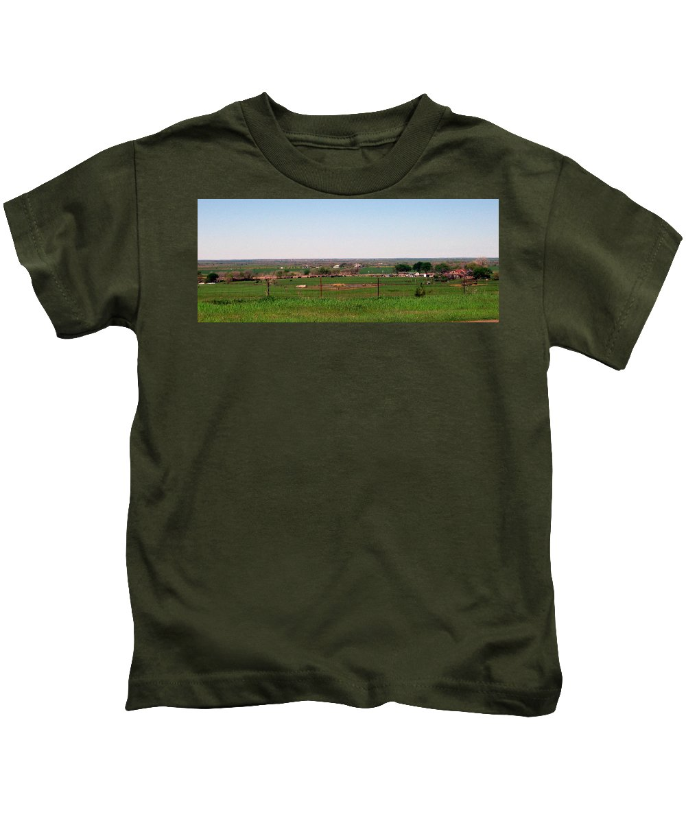 Kids T-Shirt featuring the photograph Country Side by Amy Hosp