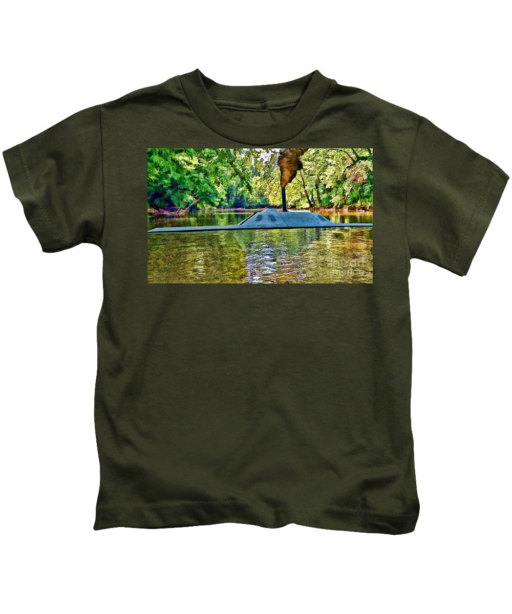 Css Neuse Kids T-Shirt featuring the digital art Css Neuse by Tommy Anderson