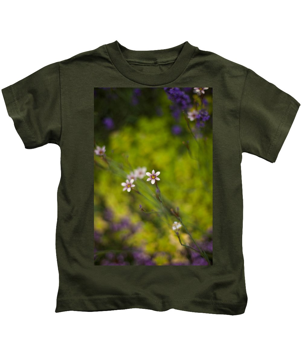 Flower Kids T-Shirt featuring the photograph Delicate Flowers by Mike Reid