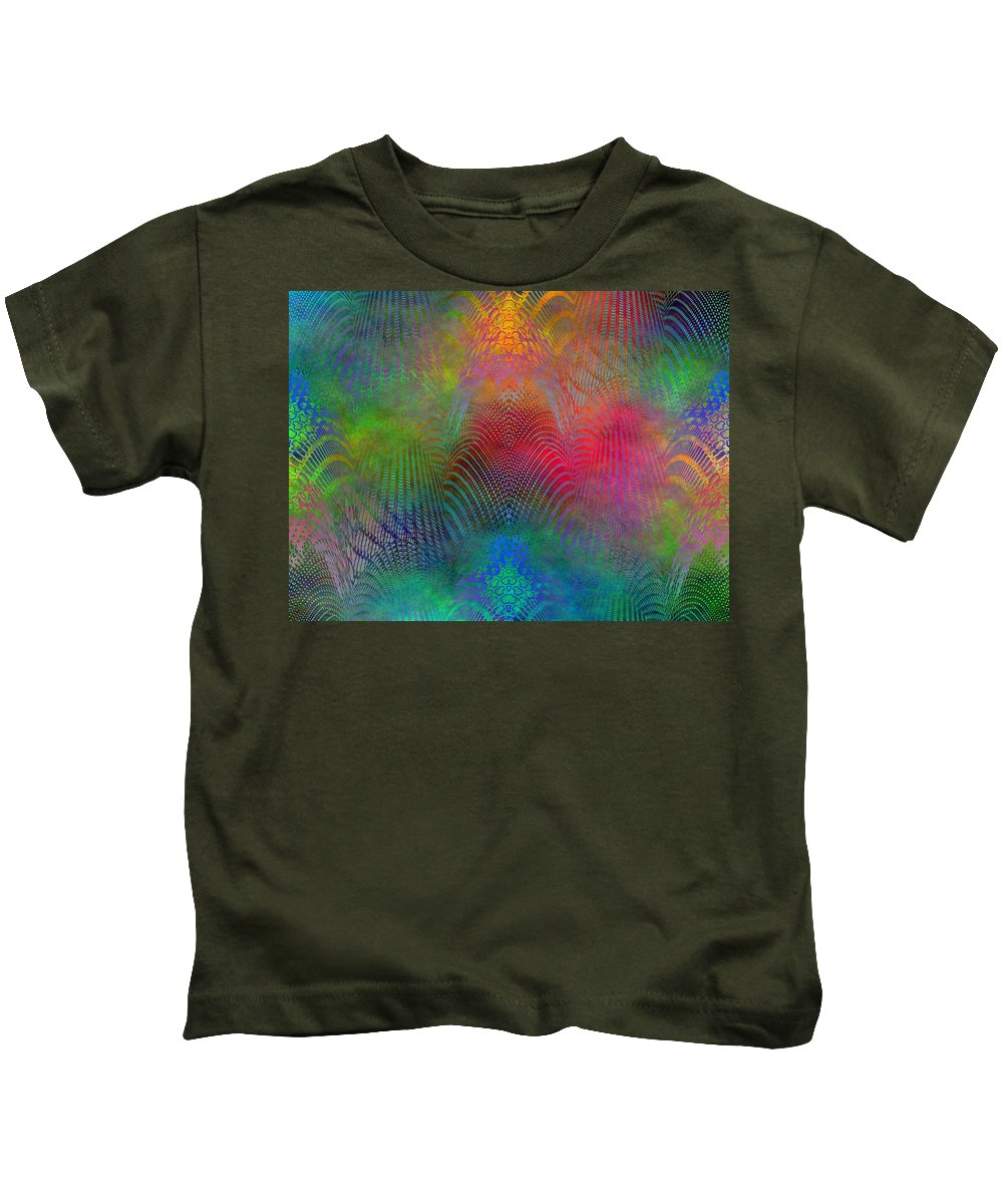 Fence Kids T-Shirt featuring the digital art Dont Fence Me In 2 by Tim Allen