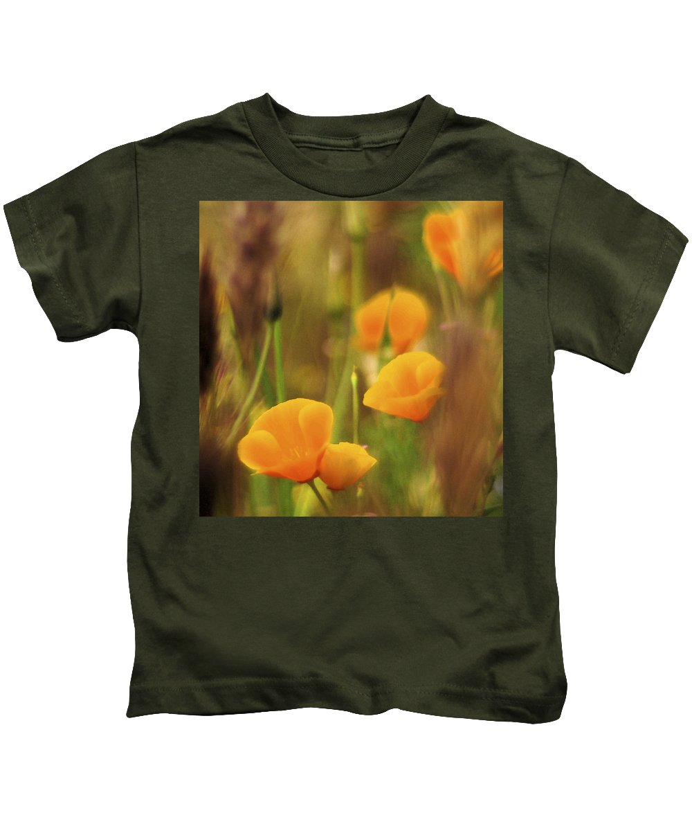 Abstract Kids T-Shirt featuring the photograph Dream Poppies by Ralph Vazquez