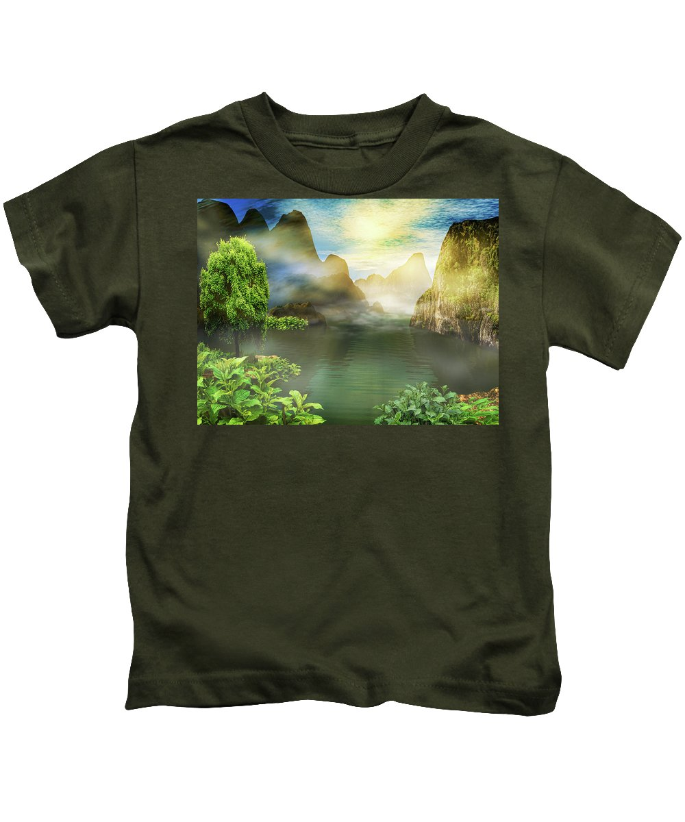 Landscape Kids T-Shirt featuring the photograph Dreamy Mood by Lourry Legarde