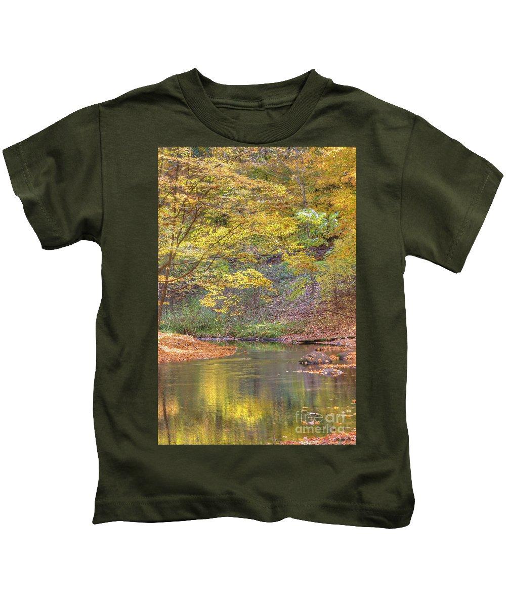 Fall Kids T-Shirt featuring the photograph Emerald Creek by Robert Pearson
