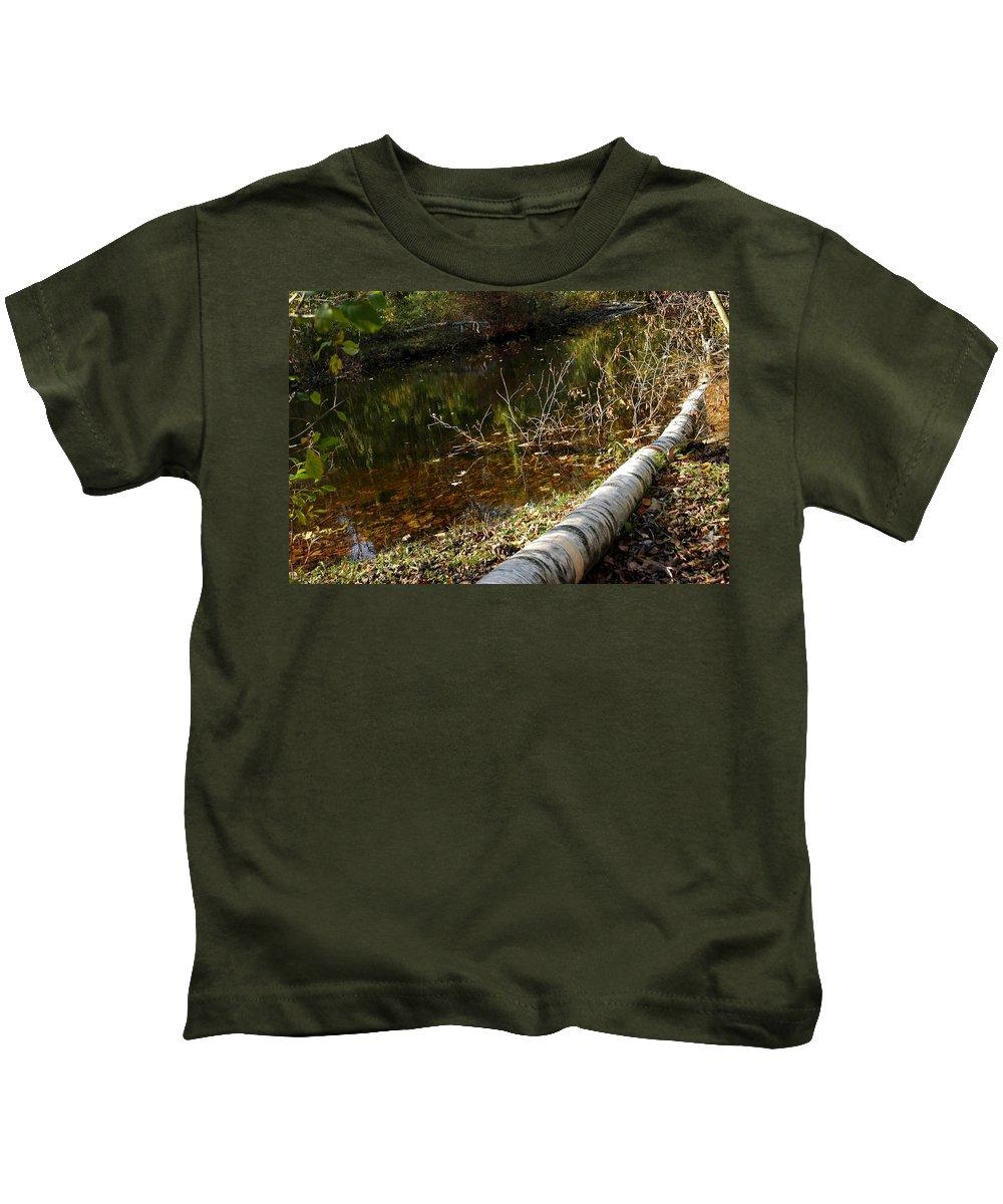 Usa Kids T-Shirt featuring the photograph Fallen Tree Path by LeeAnn McLaneGoetz McLaneGoetzStudioLLCcom