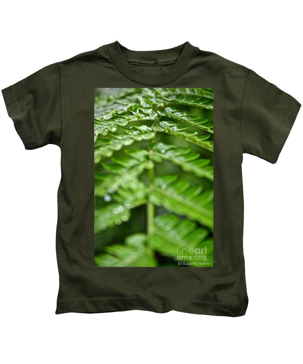 Tropical Plant Kids T-Shirt featuring the photograph Fern by Susan Herber