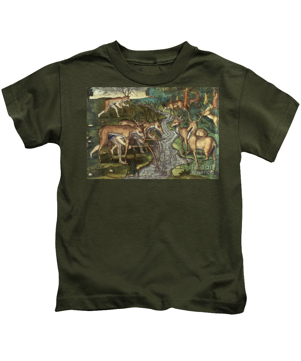 1591 Kids T-Shirt featuring the photograph Florida: Hunters, C1591 by Granger