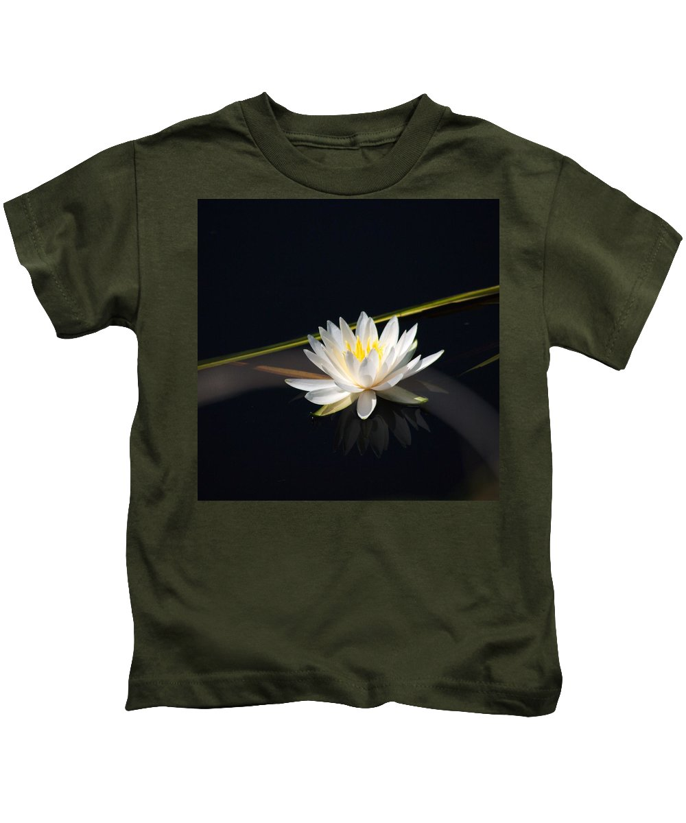 Water Lilly Kids T-Shirt featuring the photograph Flower Of The Marsh by Anthony Walker Sr