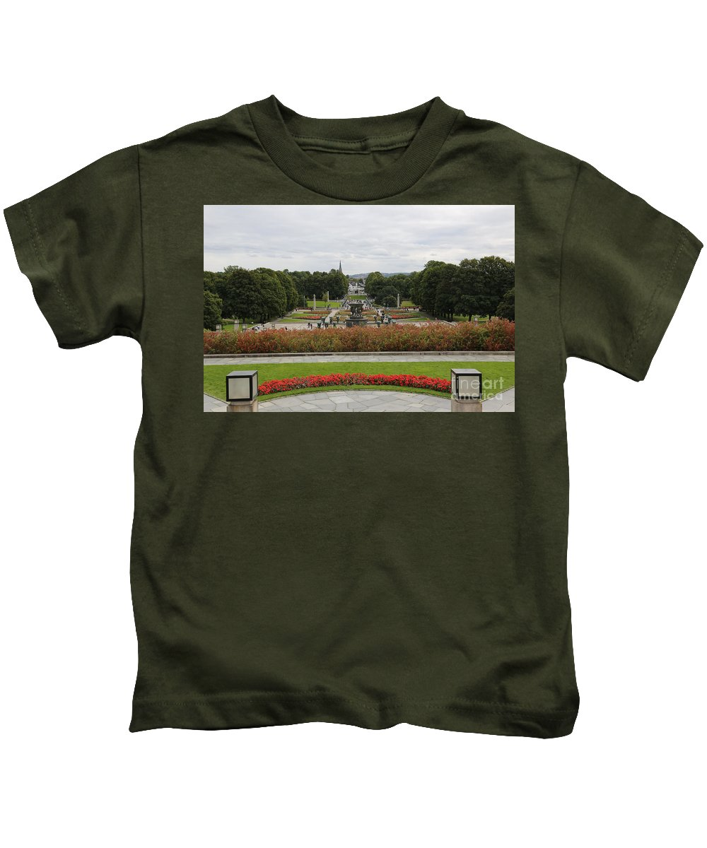 Oslo Kids T-Shirt featuring the photograph Frogner Park by Carol Groenen