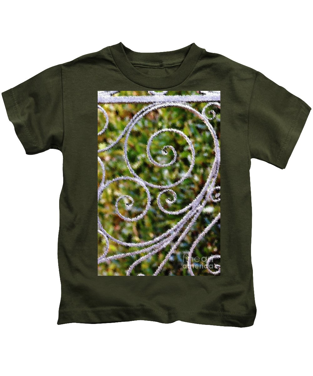 Circles Kids T-Shirt featuring the photograph Gate Of Circles by Donna Bentley