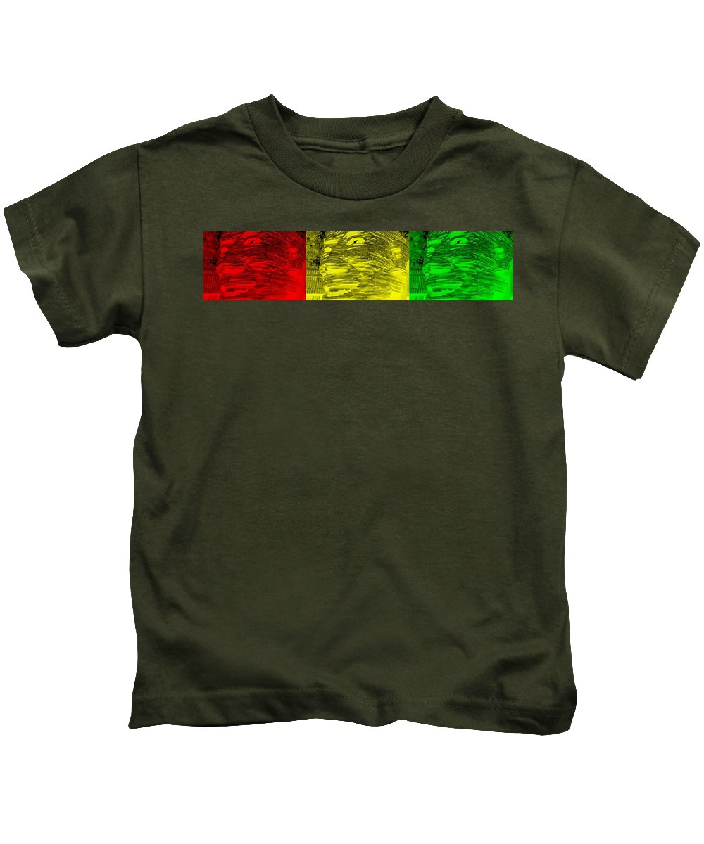 Architecture Kids T-Shirt featuring the photograph Gentle Giant In Negative Colors by Rob Hans