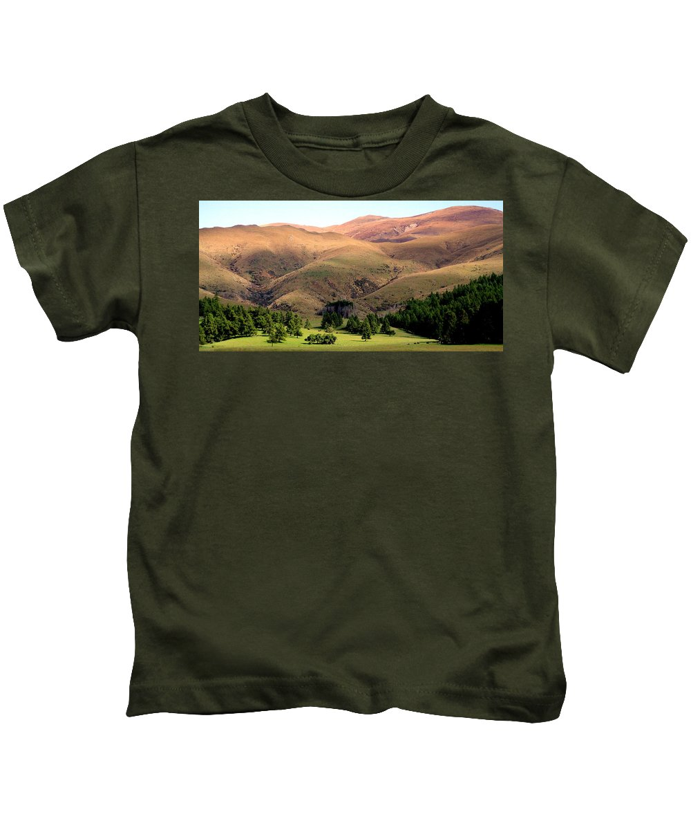 Rolling Hills Kids T-Shirt featuring the photograph Gentle Rolling Hills by Laurel Talabere