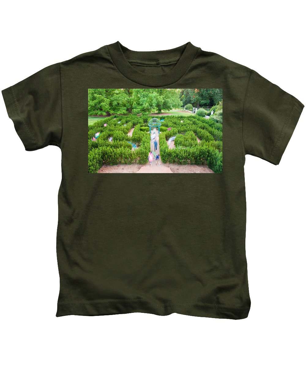 Grass Kids T-Shirt featuring the photograph Get Lost by Semmick Photo