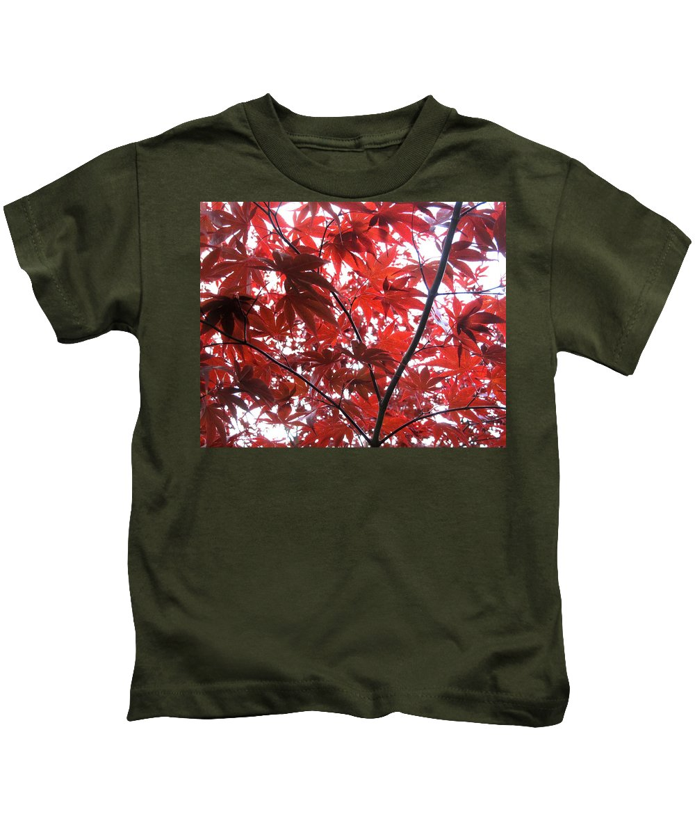 Japanese Kids T-Shirt featuring the photograph Glorious Red by Ian MacDonald