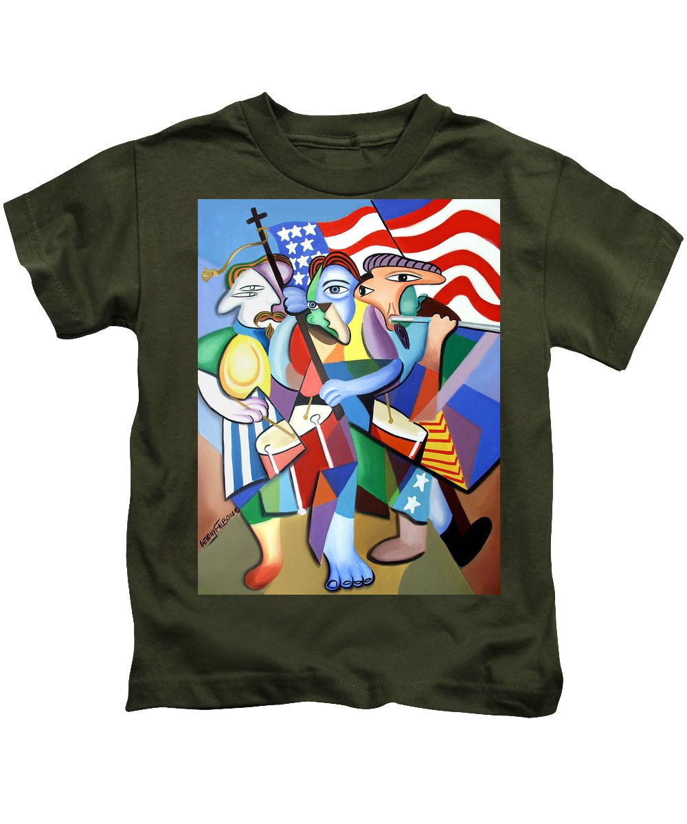 Glory Glory Framed Prints Kids T-Shirt featuring the painting Glory Glory by Anthony Falbo