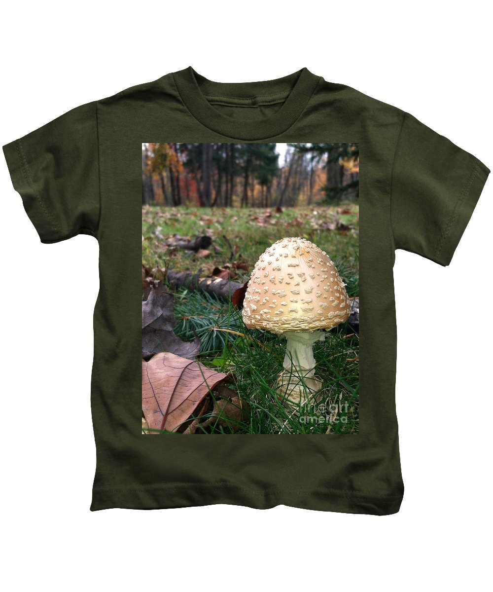 Kids T-Shirt featuring the photograph Gnomes Eye View by Trish Hale