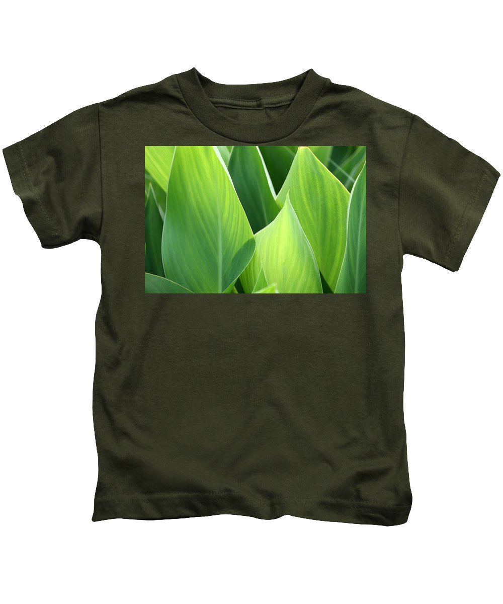 Green Kids T-Shirt featuring the photograph Going Green by Kathy Clark