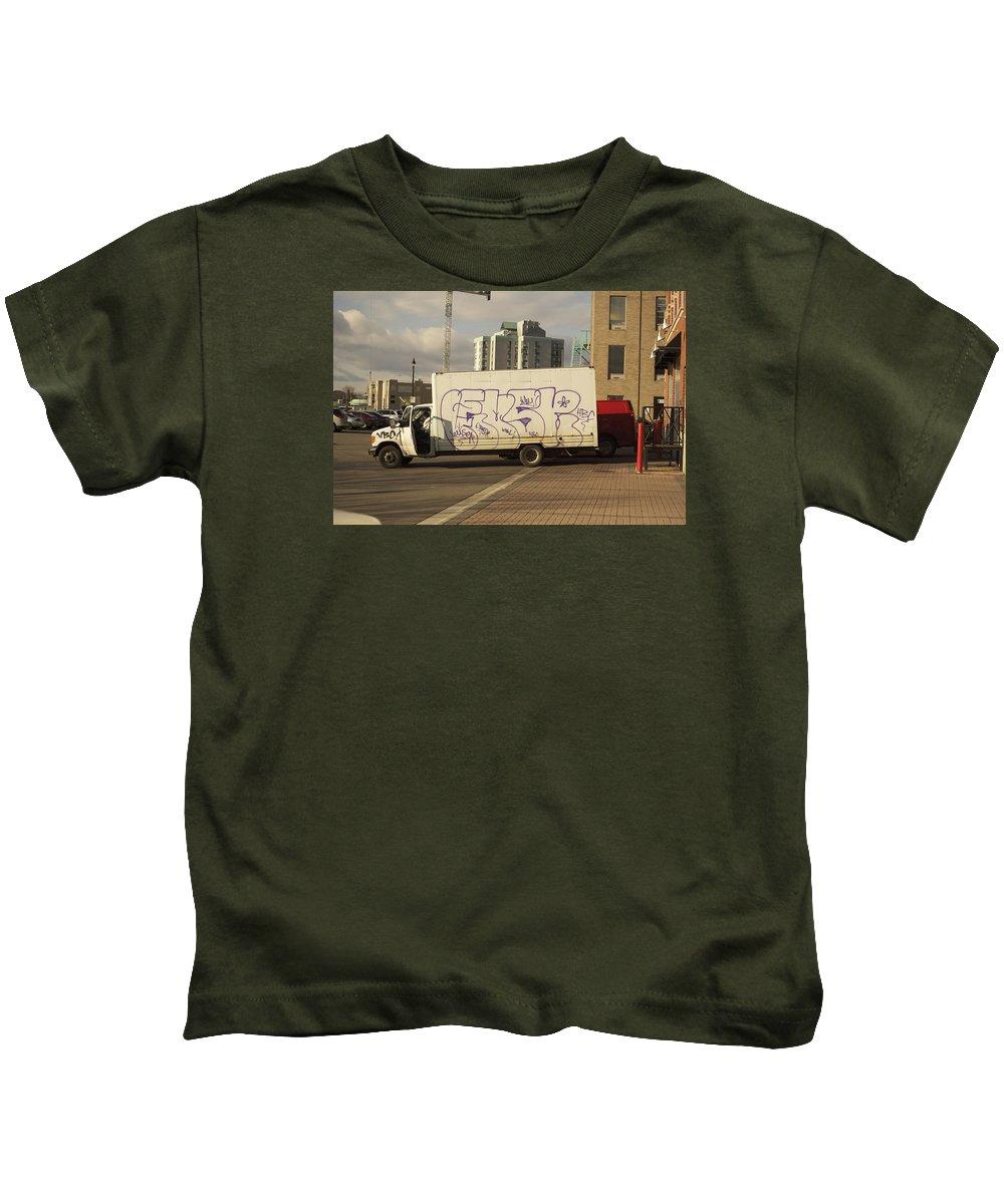 Graffiti Kids T-Shirt featuring the photograph Graffiti Truck by Elaine Mikkelstrup