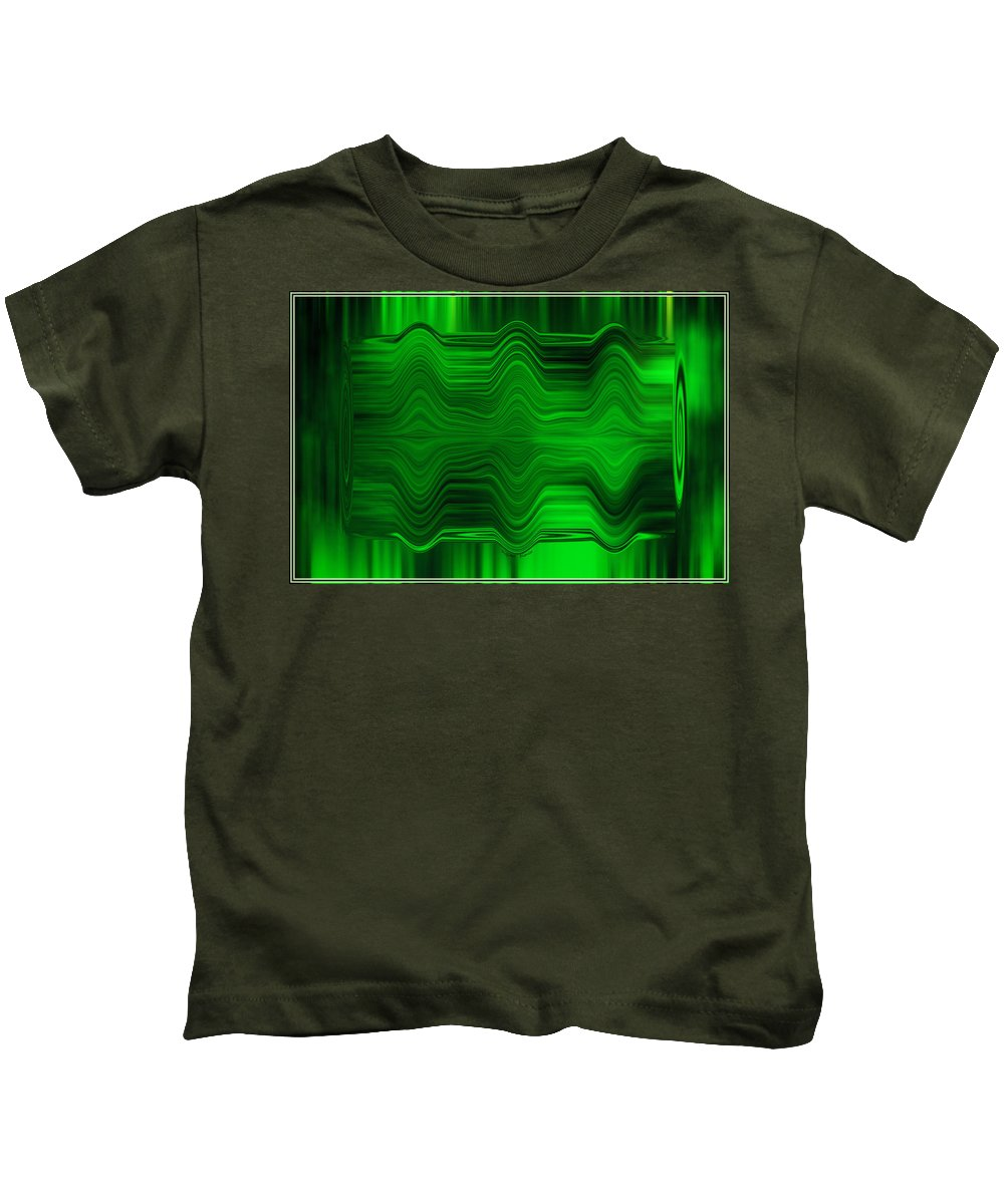 Abstract Kids T-Shirt featuring the photograph Green Waters by DigiArt Diaries by Vicky B Fuller