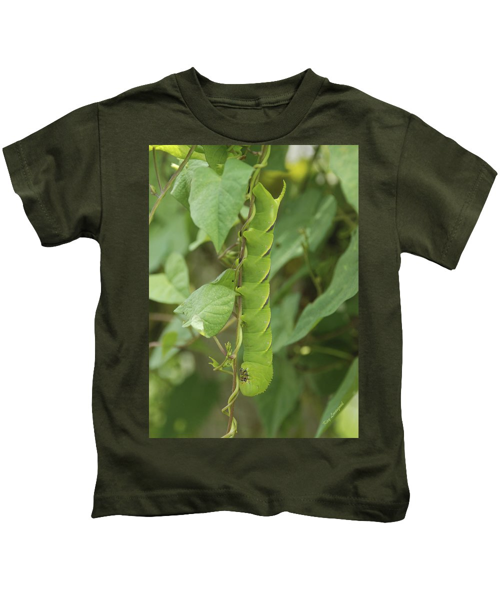 Worm Kids T-Shirt featuring the photograph Hangin' Around by Kay Lovingood