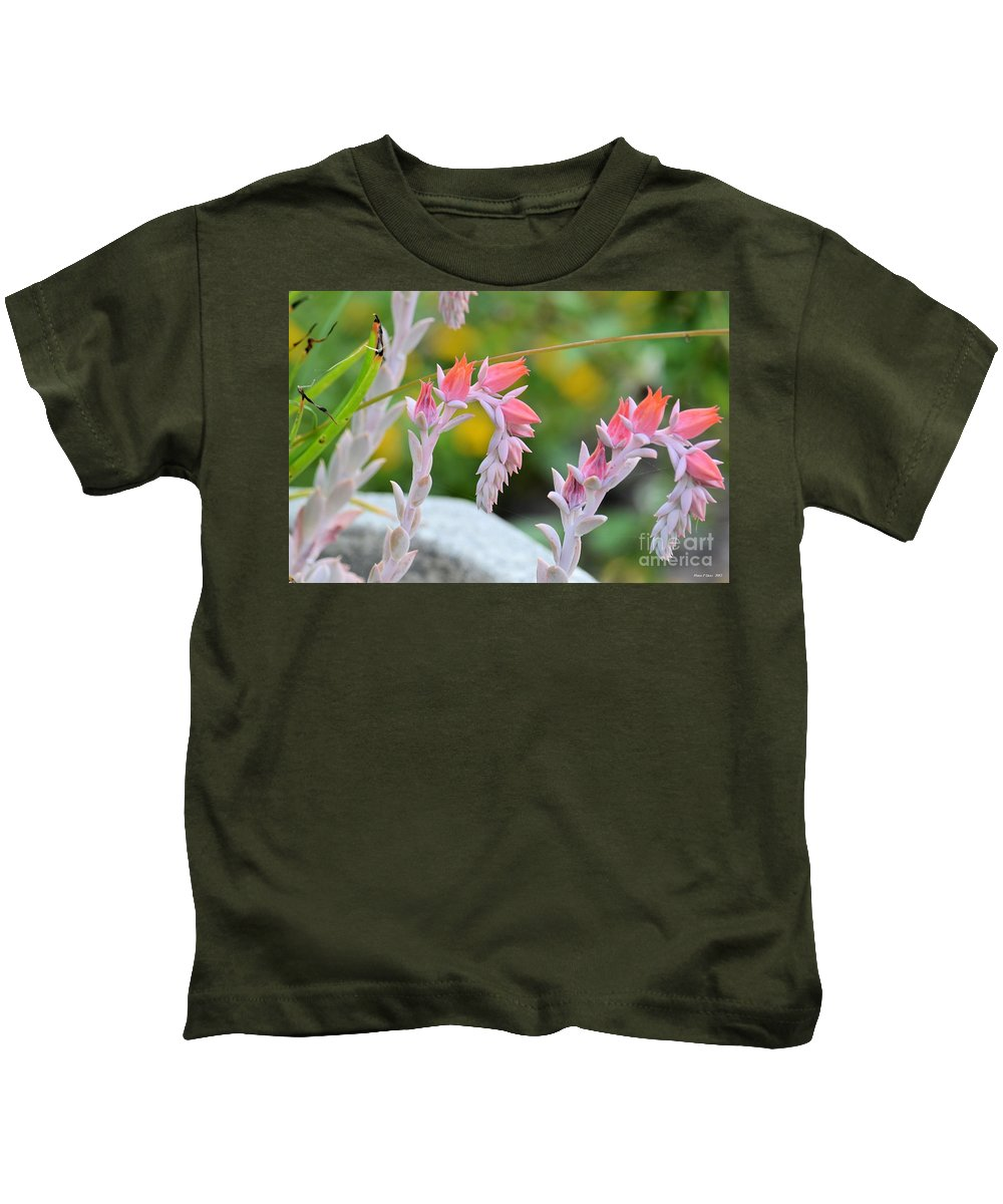 Hooked Kids T-Shirt featuring the photograph Hooked On Pink by Maria Urso