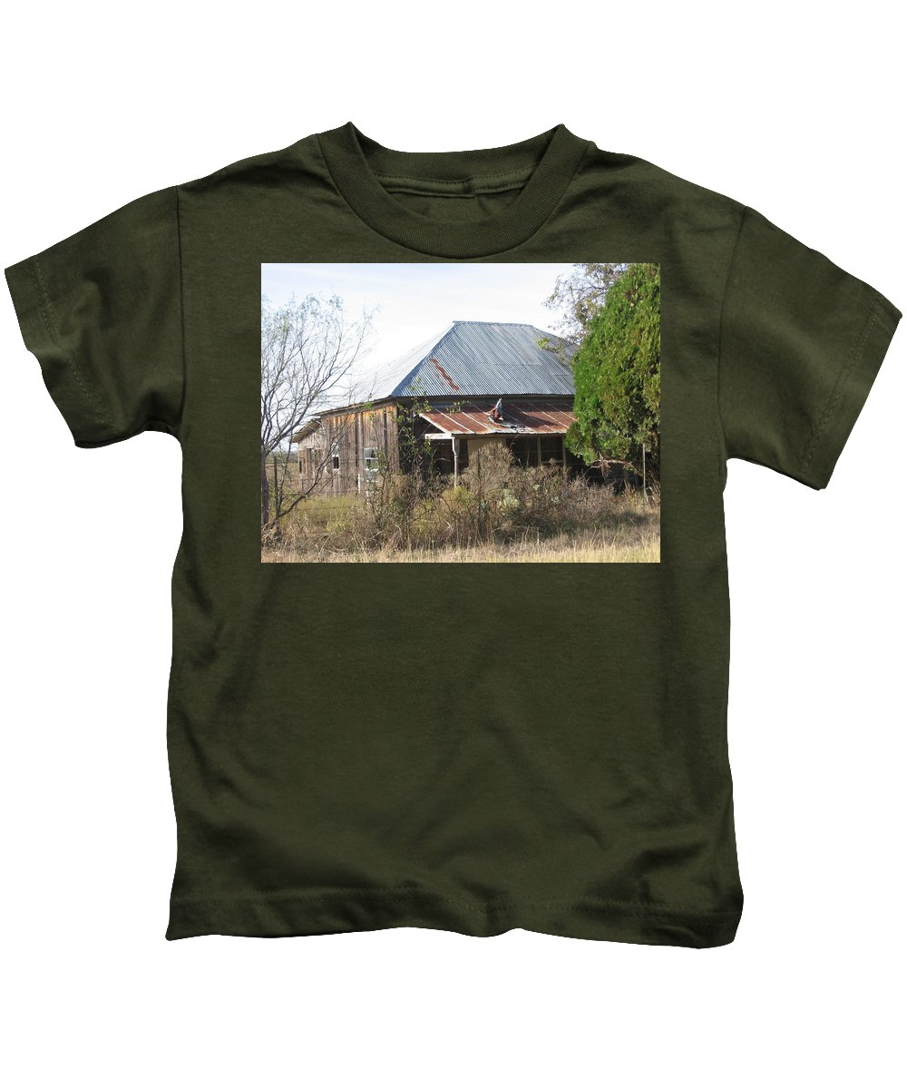 Kids T-Shirt featuring the photograph House Indian Gap Tx by Amy Hosp