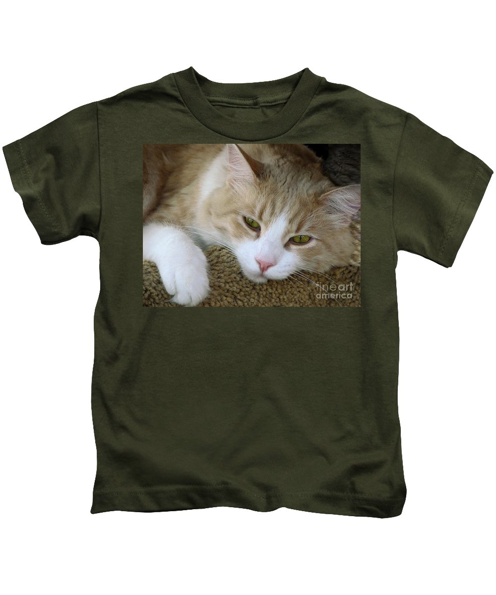 Cats Kids T-Shirt featuring the photograph I Miss You by Ellen Cotton
