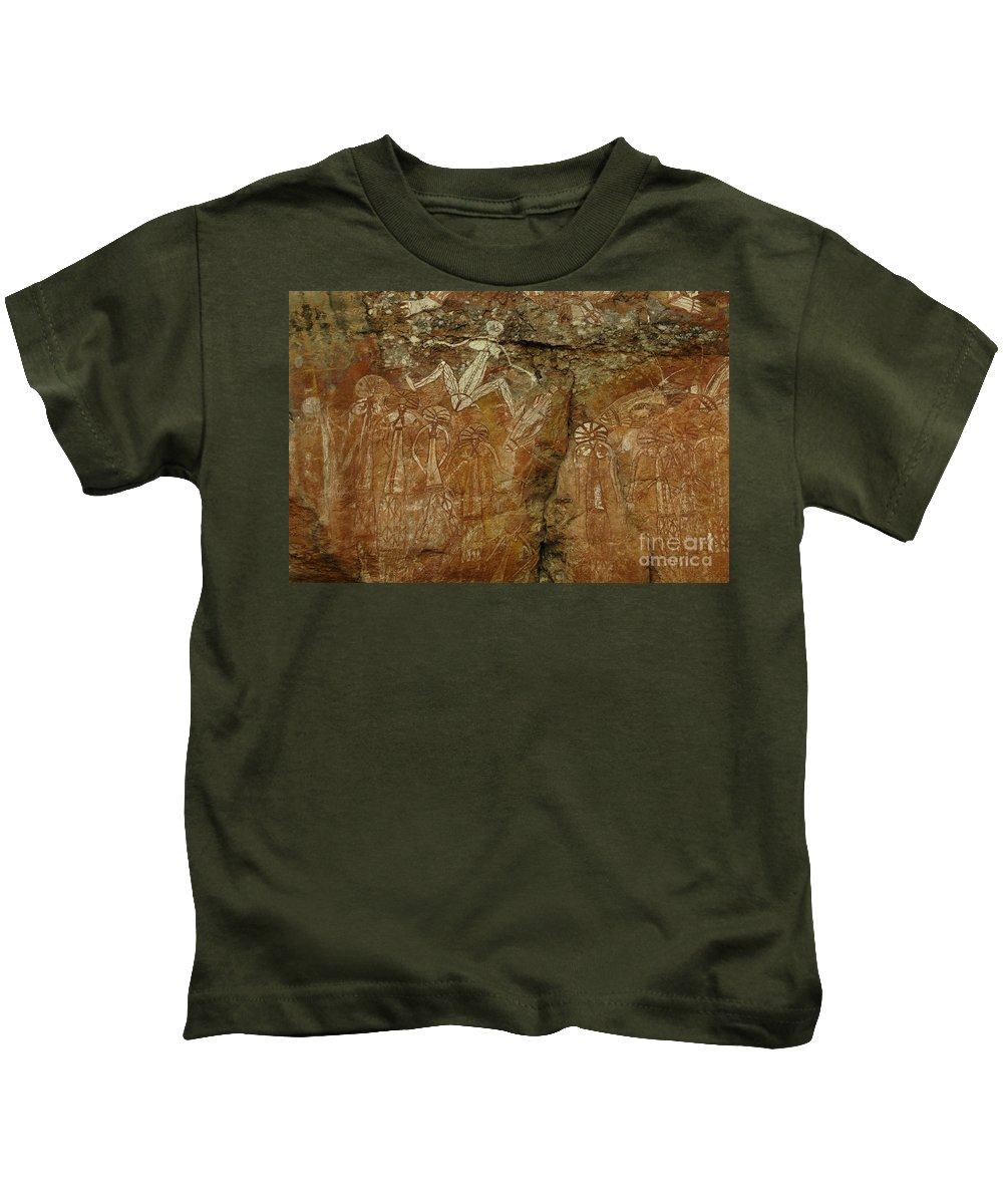 Indigenous Art Kids T-Shirt featuring the photograph Indigenous Art Australia 2 by Bob Christopher