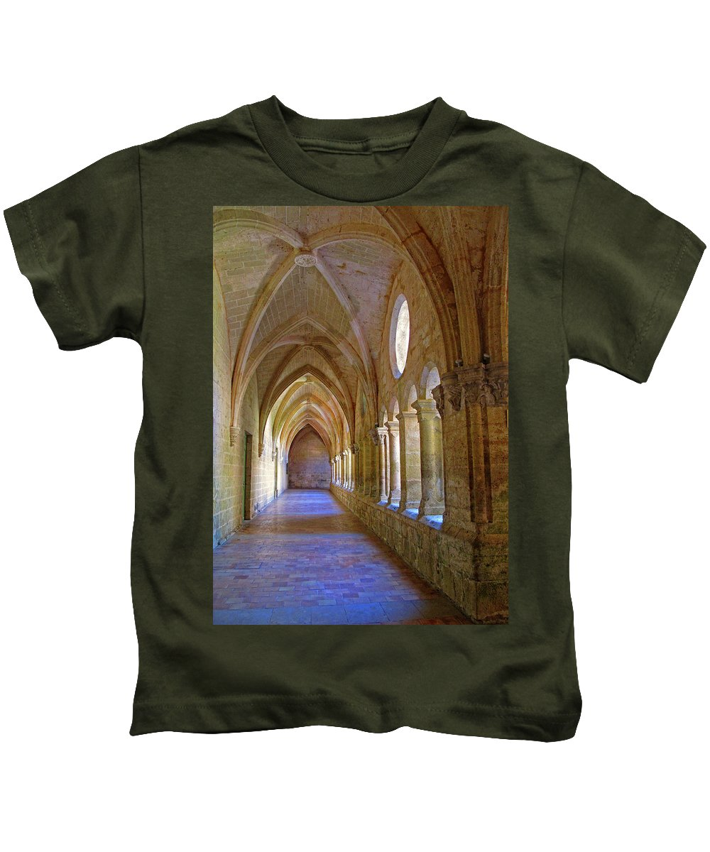 Monastery Kids T-Shirt featuring the photograph Inside A Monastery by Dave Mills