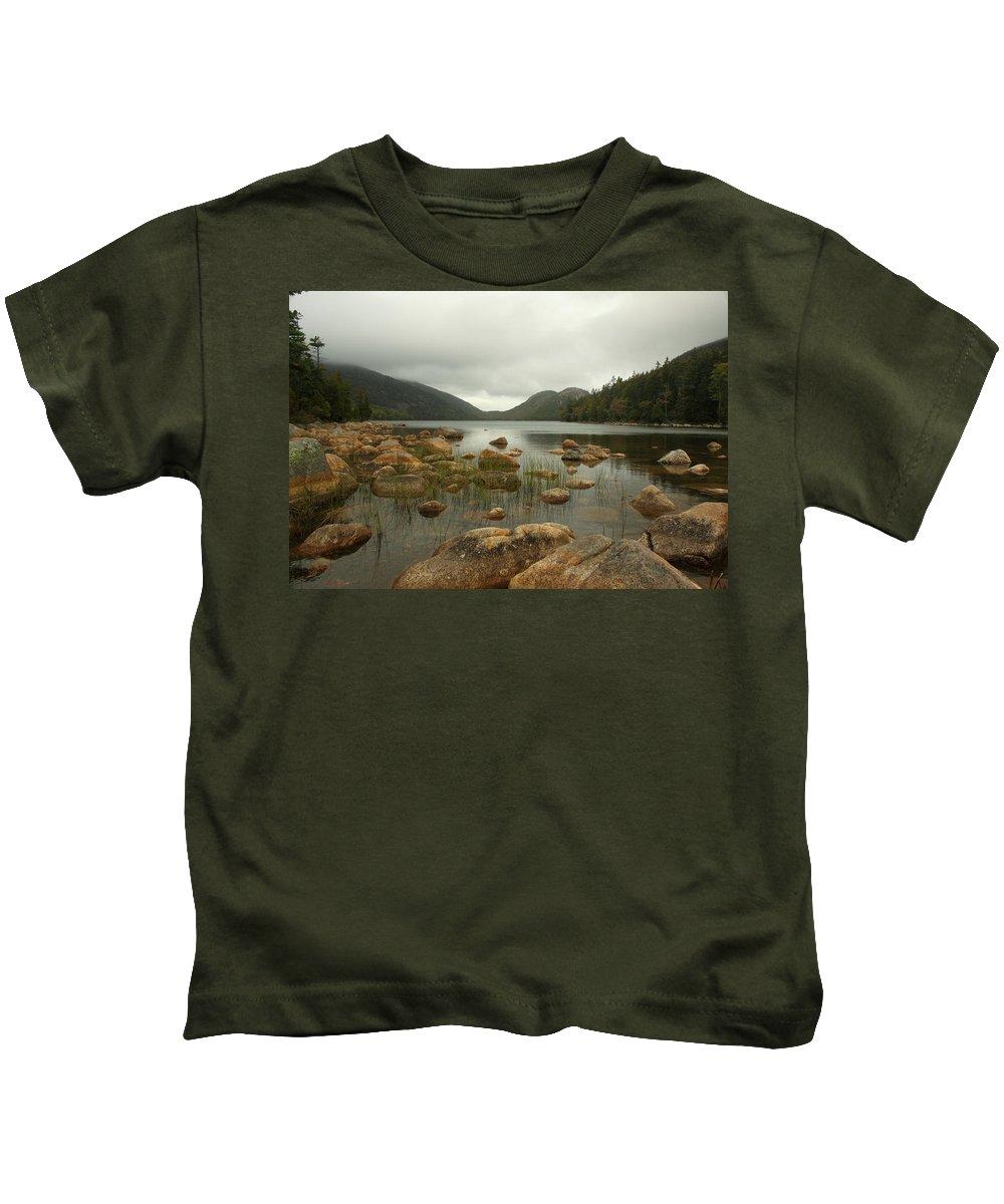 Mount Desert Island Kids T-Shirt featuring the photograph Jordans Pond by Robert McCulloch