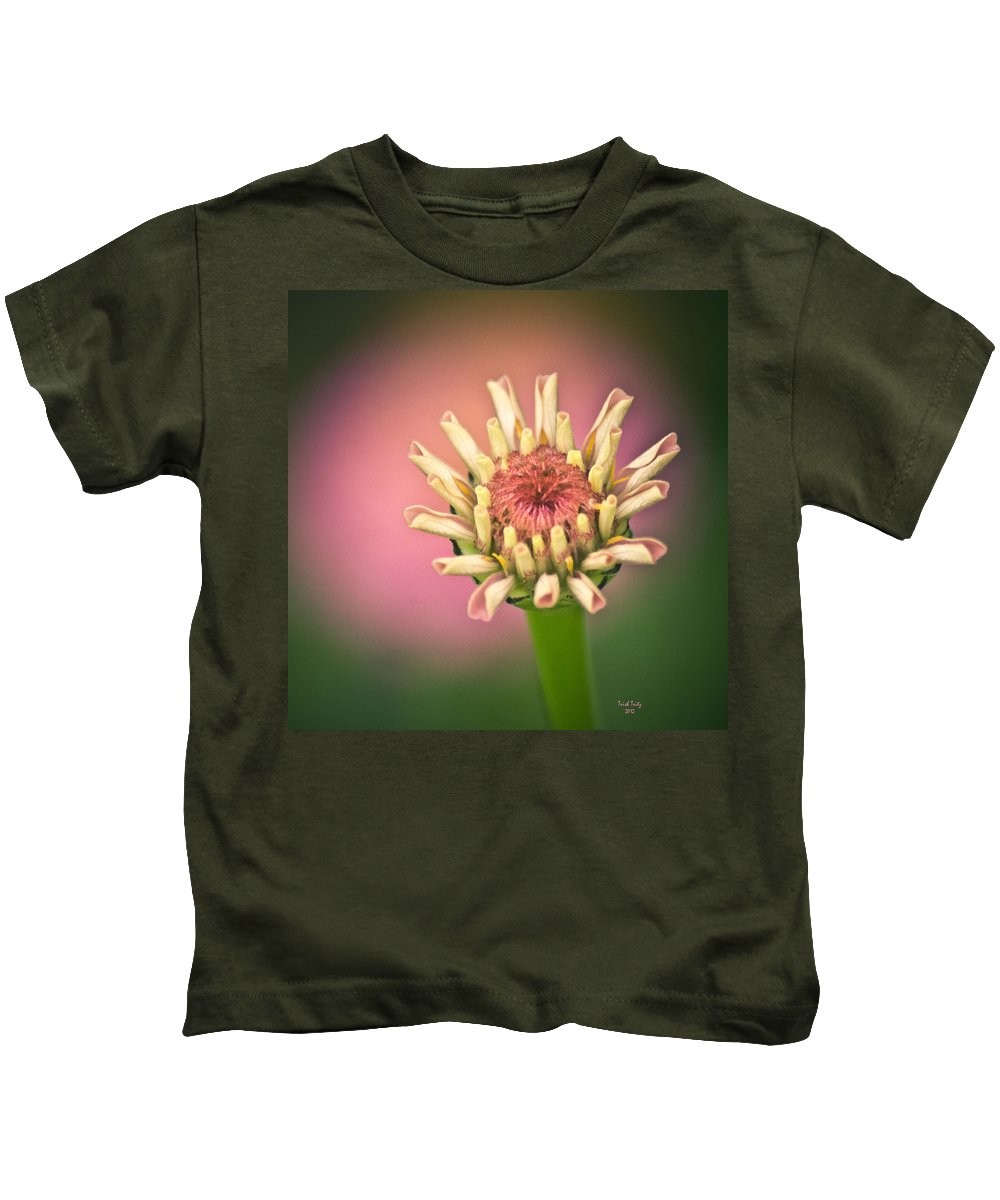 Flower Kids T-Shirt featuring the photograph Just A Little Pink by Trish Tritz