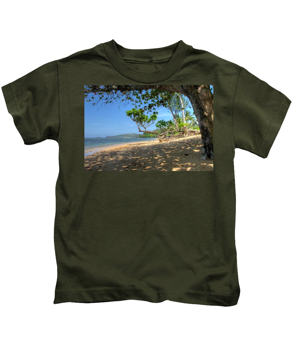 Kilauea Kids T-Shirt featuring the photograph Kilauea View From Princeville by John Greaves