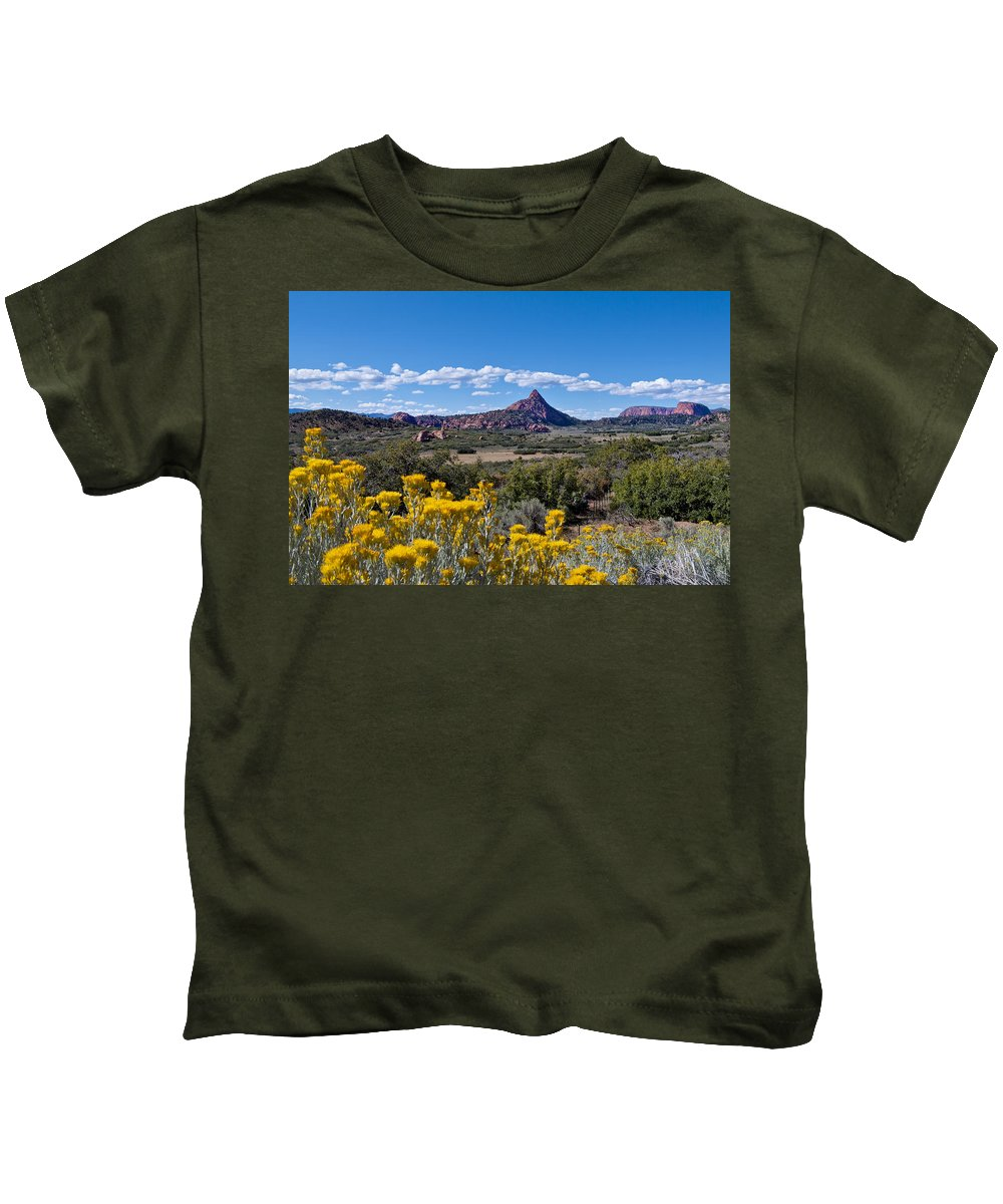 Kolob Terrace Kids T-Shirt featuring the photograph Kolob Terrace Afternoon by Mike Herdering