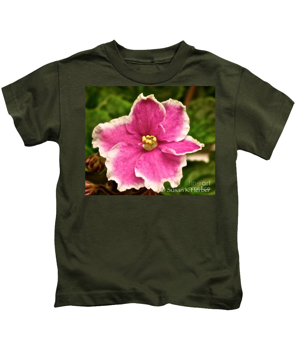 Plant Kids T-Shirt featuring the photograph Lacey by Susan Herber